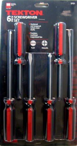 New MIT 6pc Magnetized Screwdriver Set Phillips&Flat