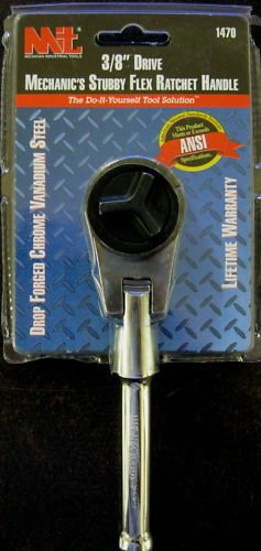 "New MIT 3/8"" Dr. Mechanic's Stubby Flex Ratchet Handle"