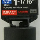"New MIT 1/2"" Dr. x 1-1/16"" SAE Shallow Impact Socket #47760"