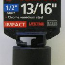 "New MIT 1/2"" Dr. x 13/16"" SAE Shallow Impact Socket #47756"