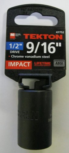 "New MIT 1/2"" Dr. x 9/16"" SAE Shallow Impact Socket #47752"