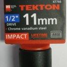 "New MIT 1/2"" Dr. x 11MM Shallow Impact Socket #47766"
