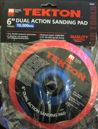 """New MIT 6"""" Dual Action Sanding Pad 150mm 10,000 RPM #4295"""
