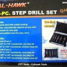 New Cal-Hawk 5-Pc. Step Drill Set #BDBSD5P