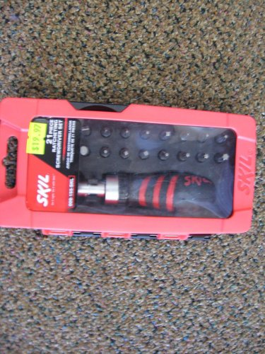 New Skil 21 Pc Ratcheting Multi Bit Screwdrver Set