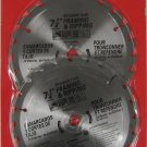 "New ATE 2pc 7-1/4"" 24T Carbide Tip Saw Blade 8000 RPM"