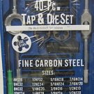 New MIT 40-Pc. SAE Fine Carbon Steel Tap & Die Set