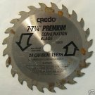 "7-7-1/4"" Credo Premium Combination Blade 24-T Carbide"
