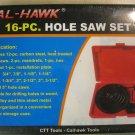 New Cal-Hawk 16-Pc. Hole Saw Set #CZHS16P