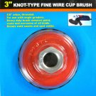 "New Cal-Hawk 3"" Knot Type Fine Wire Cup Brush #CZWWC3NF"
