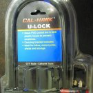 New Cal-Hawk U Lock with 2 Keys PVC Coating #BLOBU