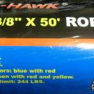 "New Cal-Hawk 3/8"" x 50 Rope #CZR350C"