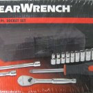 "New 13 Pc GearWrench 1/4"" Drive 6 Point SAE Socket Set with Ratchet #80324"