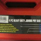 New 4-Pc. Heavy Duty Jumbo Pry Bar Set  #70129
