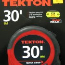 New MIT 30' Rapid Read Tape Measure w/Quick Stop & Lock #71954