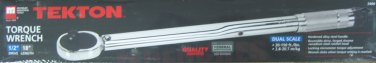 "New MIT 1/2"" Drive x  18"" Length Torque Wrench w/Storage Case #2460"