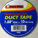 """New Frost King Cloth Coated Duct Tape 2"""" x 10  #T903"""