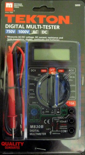 New Tekton Digital Multi Tester 750V 1000V AC/DC  #5899