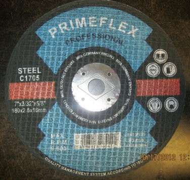 "New Primeflex Prof Cutting Disc for Steel 7""x3/32""x5/8"" #C1705"