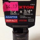 "New MIT 1/2""(F) x 3/4""(M) Impact Adapter #47822"