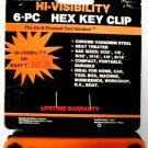 New MIT Hi-Visibility 6-Pc. SAE Hex Key Clip #2515