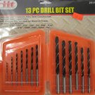 "New IIT 13 Piece Alloy Steel Drill Bit Set 1/16"" - 1/4"""