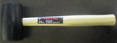 New MIT 24-oz Rubber Double-Faced Rubber Mallet w/Hardwood Handle # 3168
