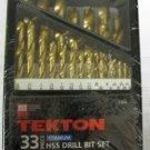 New MIT/Tekton 33 Pc. HSS  Drill Bit Set # 7304