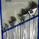 New American Tool Exchange 4-Pc Adjustable Wrench Set # 33019