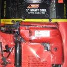 """New A. T. E. Electric 1/2"""" Impact Drill w/21 Pc Accessories  # 10002*"""