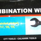 New Cal-Hawk 14 Pc MM Black Combination Wrench Set # BCW14MB