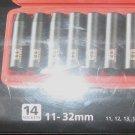 New MIT/Tekton 14 Pc 1/2 Dr. Deep MM Impact Socket Set (11-32mm) 6 pt. Cr-V  # 4885