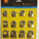 New 12 Pc Brass Padlocks 20/30/40 Mm 2 Keys with each Lock  # 12BP20 30 40*
