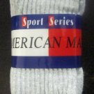 New American Made Sport Series Crew Socks 3-Pack Grey Size 9-11