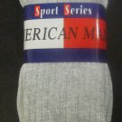 New American Made Sport Series Crew Socks 3-Pack Grey Size 10-13