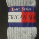 New American Made Sport Series Crew Socks 3-Pack Grey Size 13-15