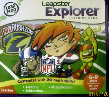 Used Leapster Explorer NFL Rush Zone Learning Game Ages 6-9 years