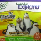 Like New Leapster Explorer The Penguins of Madagascar learning game Ages 4-7