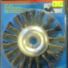 "New Cal-Hawk 4-1/2"" Knot Type Wire Wheel #CZWW45NF"