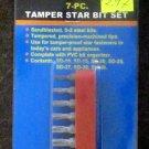 New Cal-Hawk 7 Pc. Tamper Star Bit Set #CSDTT7P