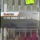 New Sontax 17-Pc. Hobby Knife Set #243-9017