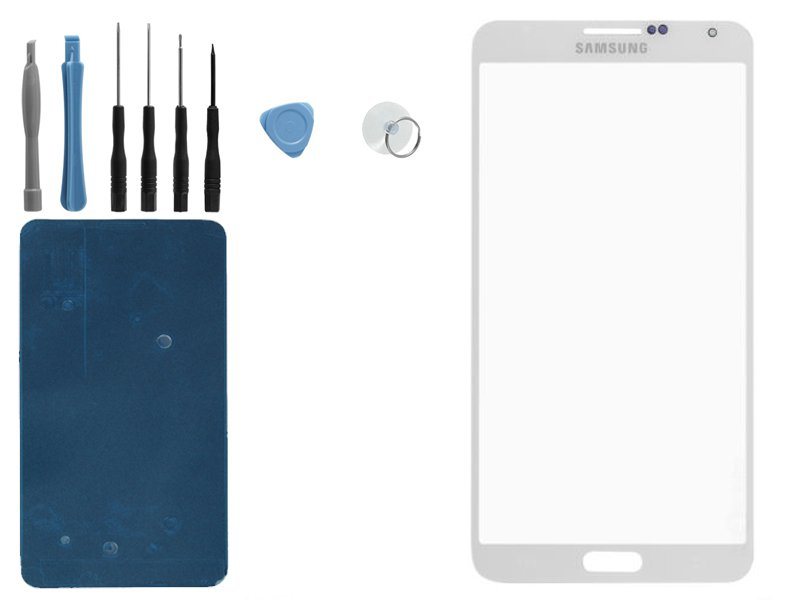 US New Samsung Galaxy Note 3 N9000 N9005 White Front Outer Screen Glass Lens*