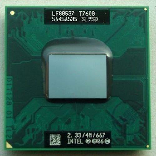 Intel Core 2 Duo Laptop cpu mobile T7600 SL9SD 4M Cache, 2.33 GHz, 667 MHz FSB