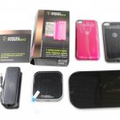Duracell Powermat iPhone 4/4s 24-Hour Black Power System W/ Black & Pink Case