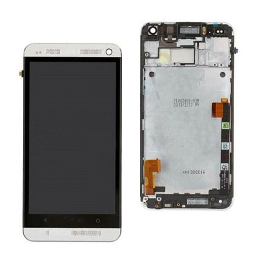 Newe OEM HTC One M7 Front Housing LCD Touch Glass Digitizer Screen Frame Assembly Silver