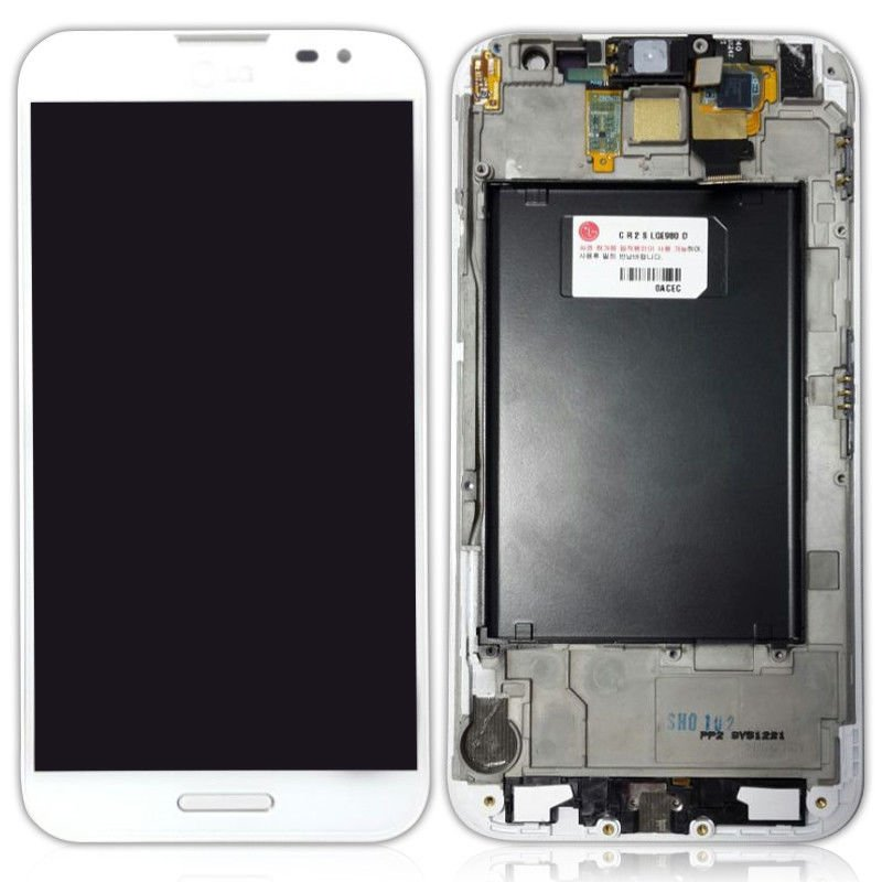New LCD Touch Screen Digitizer with Frame White for LG Optimus G Pro E980 E985