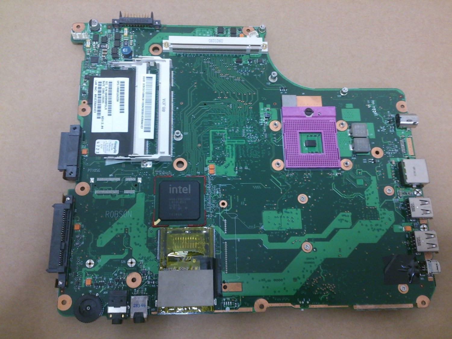 Toshiba Satellite A300 A305 Motherboard V000125700 PT10SG-6050A2171301-MB-A02