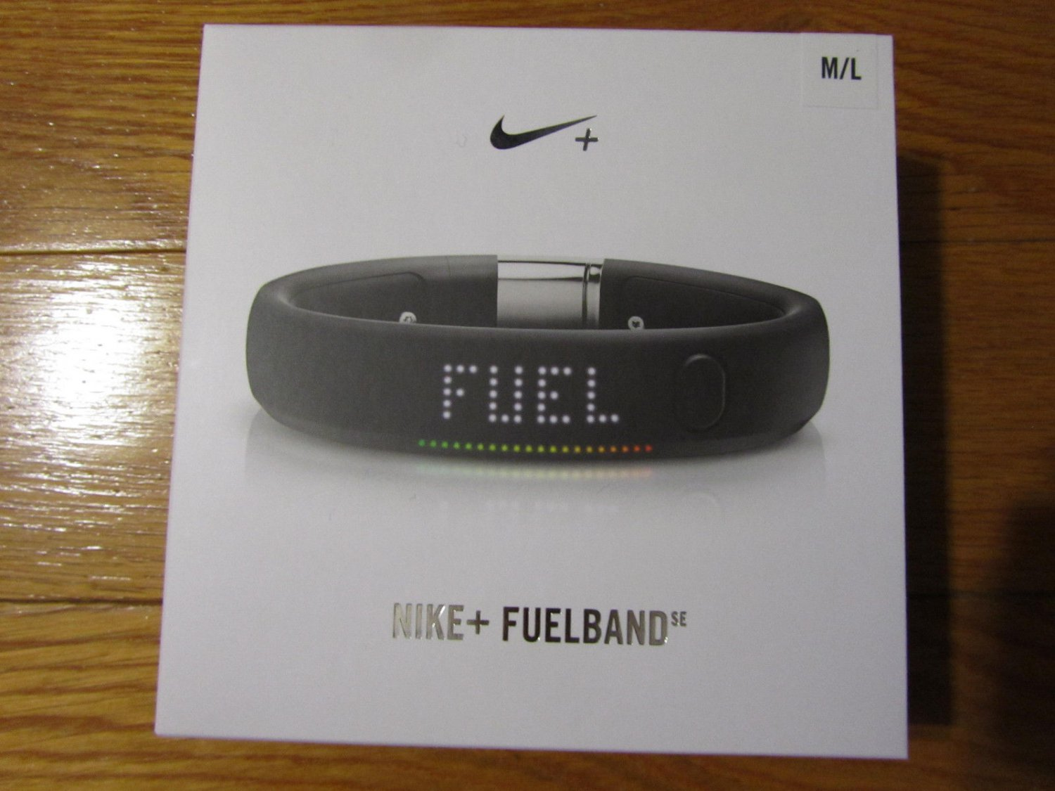 Nike Fuelband Fuel Band SE Metaluxe Black Silver Large L Limited