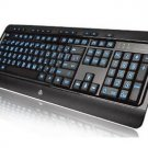 New OEM AZIO KB505U Large Print Tri-Color Illuminated USB Keyboard W/ Red Blue or Purple