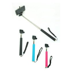 Selfie stick Iphone Samsung Extendable Handheld Stick Monopod for SELFIES - Blue